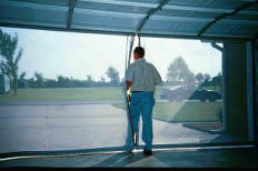 Secure-Screen retractable garage door screen